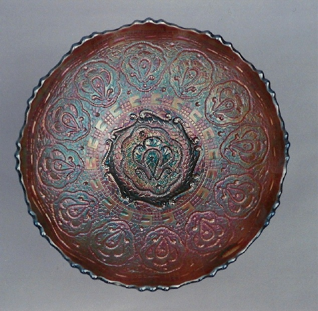 Persian Medallion deep round bowl, amethyst