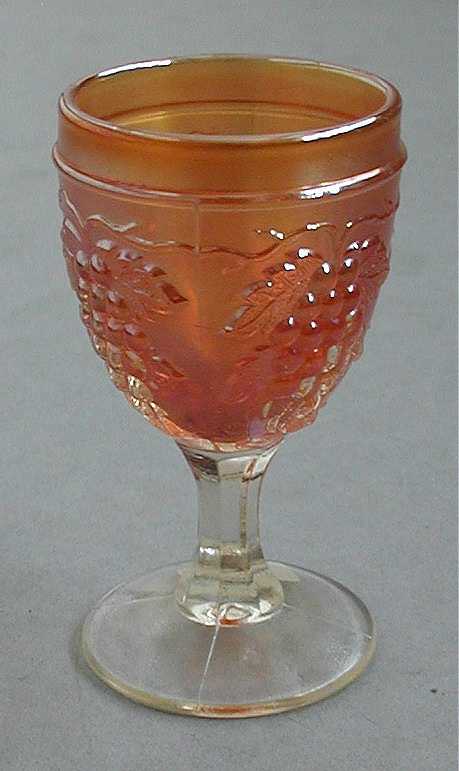 Vintage wine glass in marigold