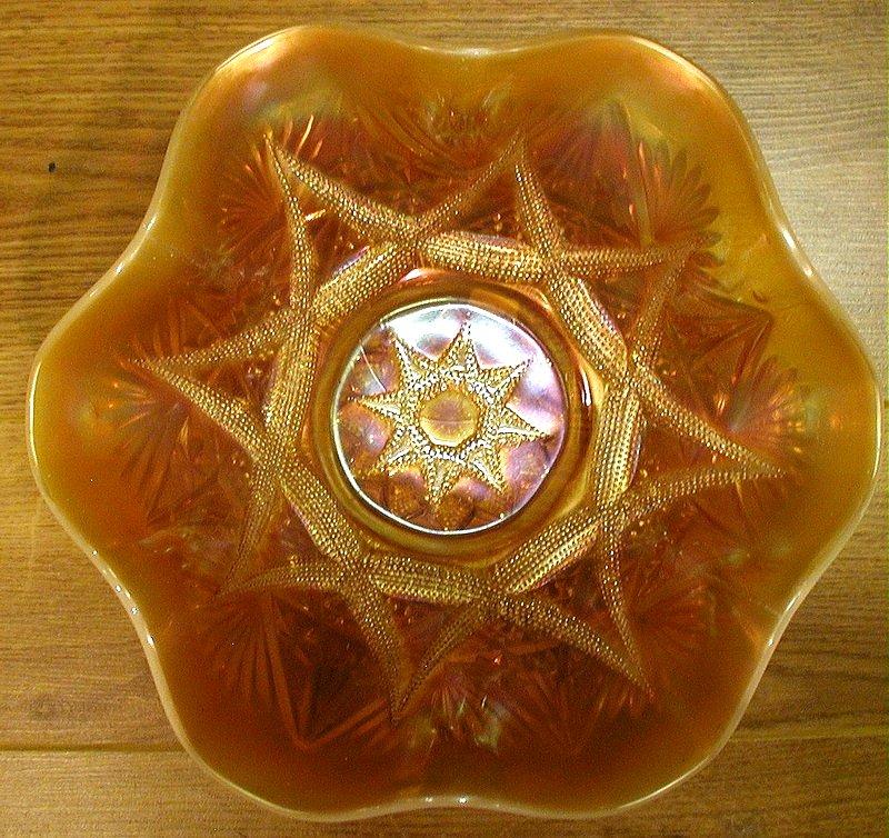 "Ski Star 11"" bowl in peach opal"