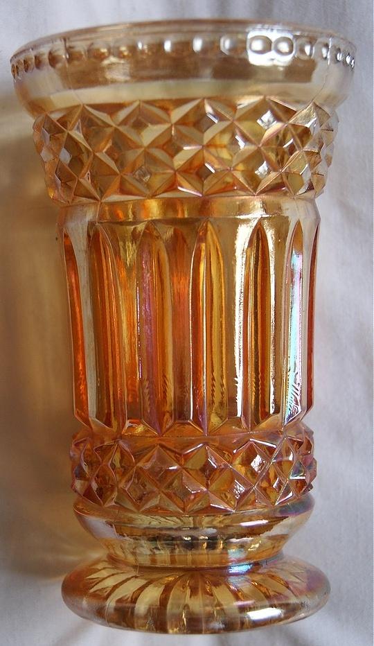 Heavy prisms celery vase maker unknown