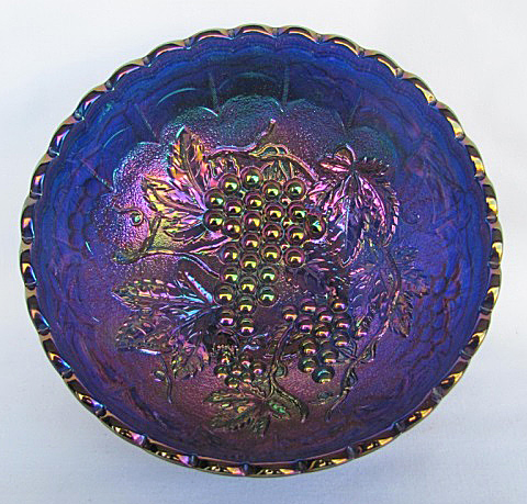 "7"" Imperial Grape deep round bowl, blue"