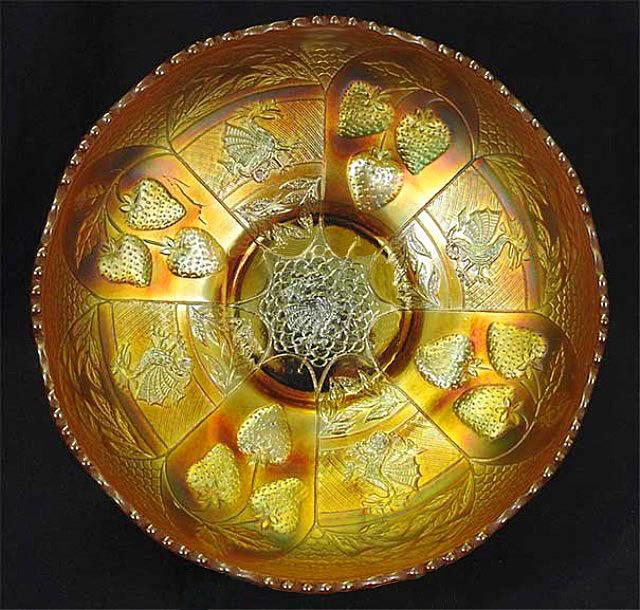 Dragon & Strawberry IC shape bowl, marigold