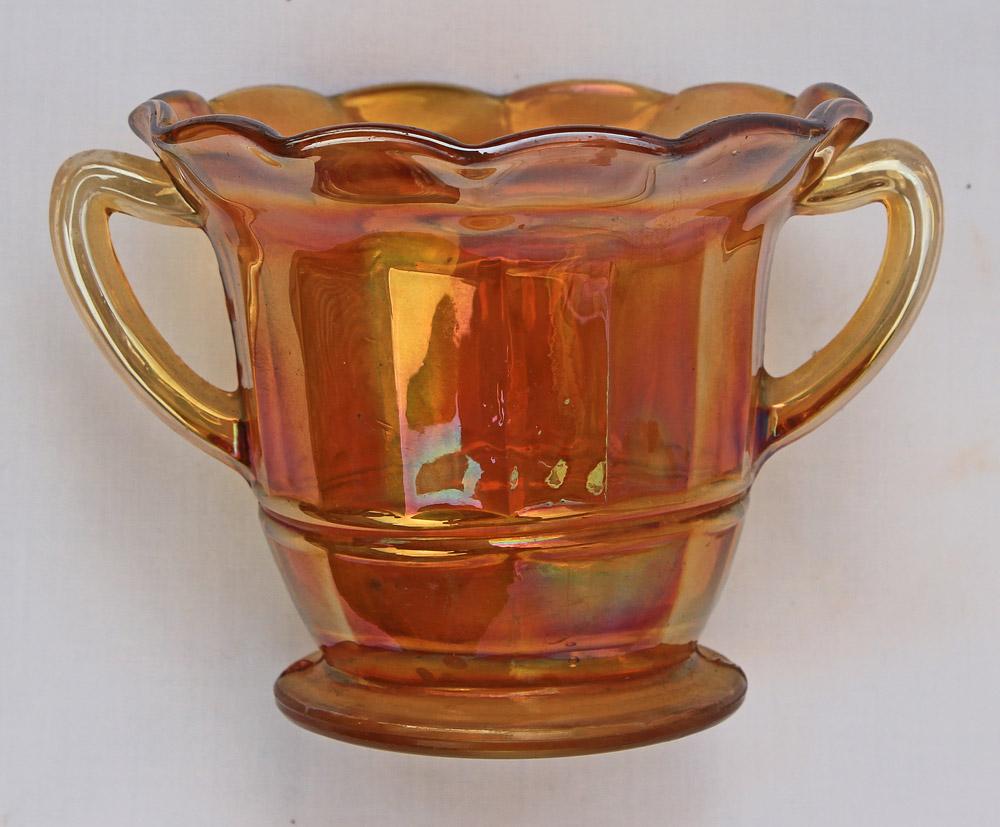 Panelled sugar basin, marigold