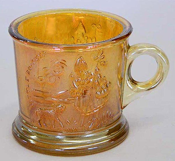 Bo-Peep mug in marigold by Westmoreland, USA