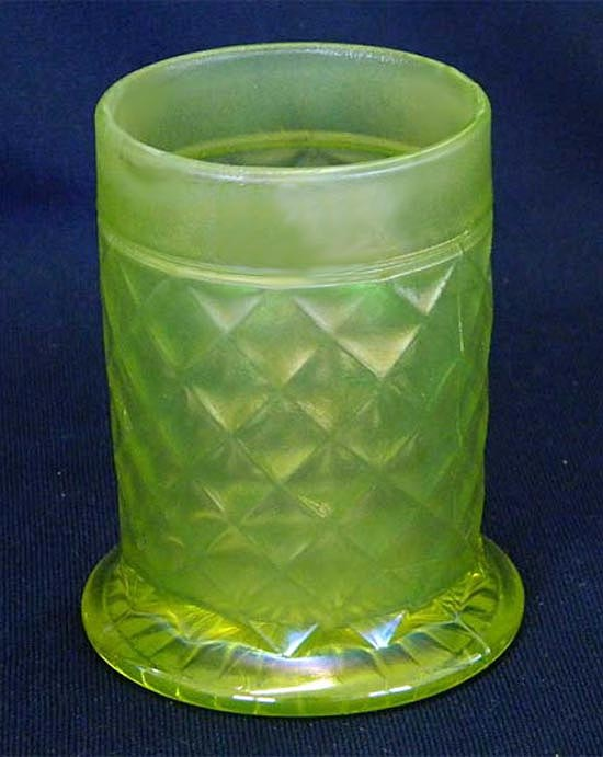 Concave Diamonds tumble-up tumbler, vaseline