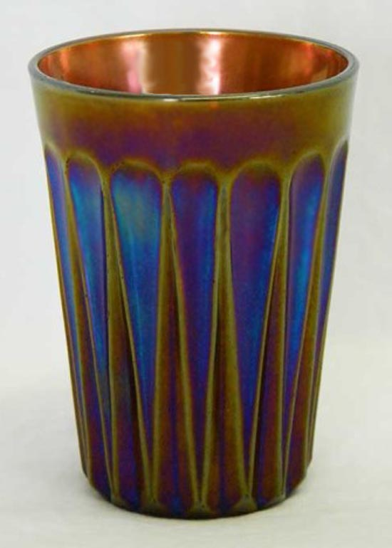 Cone and Tie tumbler in purple