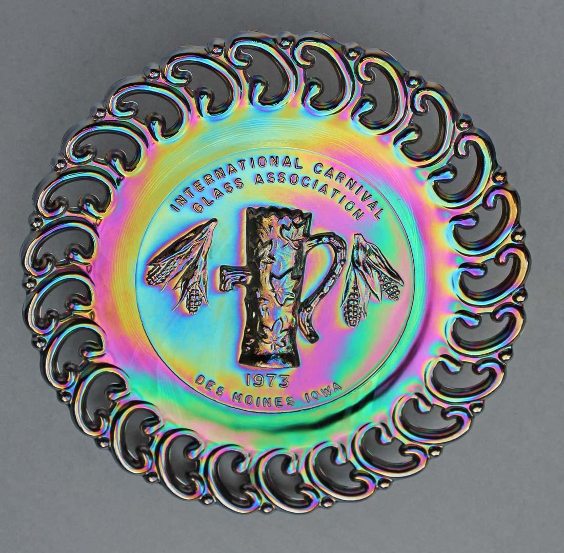International Carnival Glass Association,1973, purple, L.E.Smith