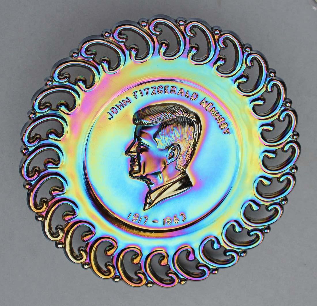 John Fitzgerald Kennedy, 1917-1963, purple, L.E.Smith