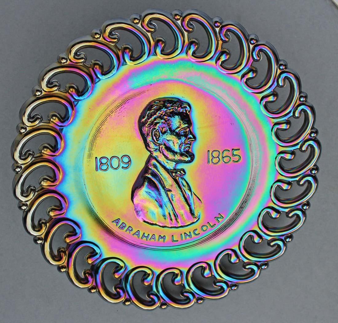 Abraham Lincoln 1809-1865, purple, L.E.Smith