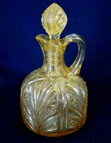 Diamond Fountain cruet by Higbee