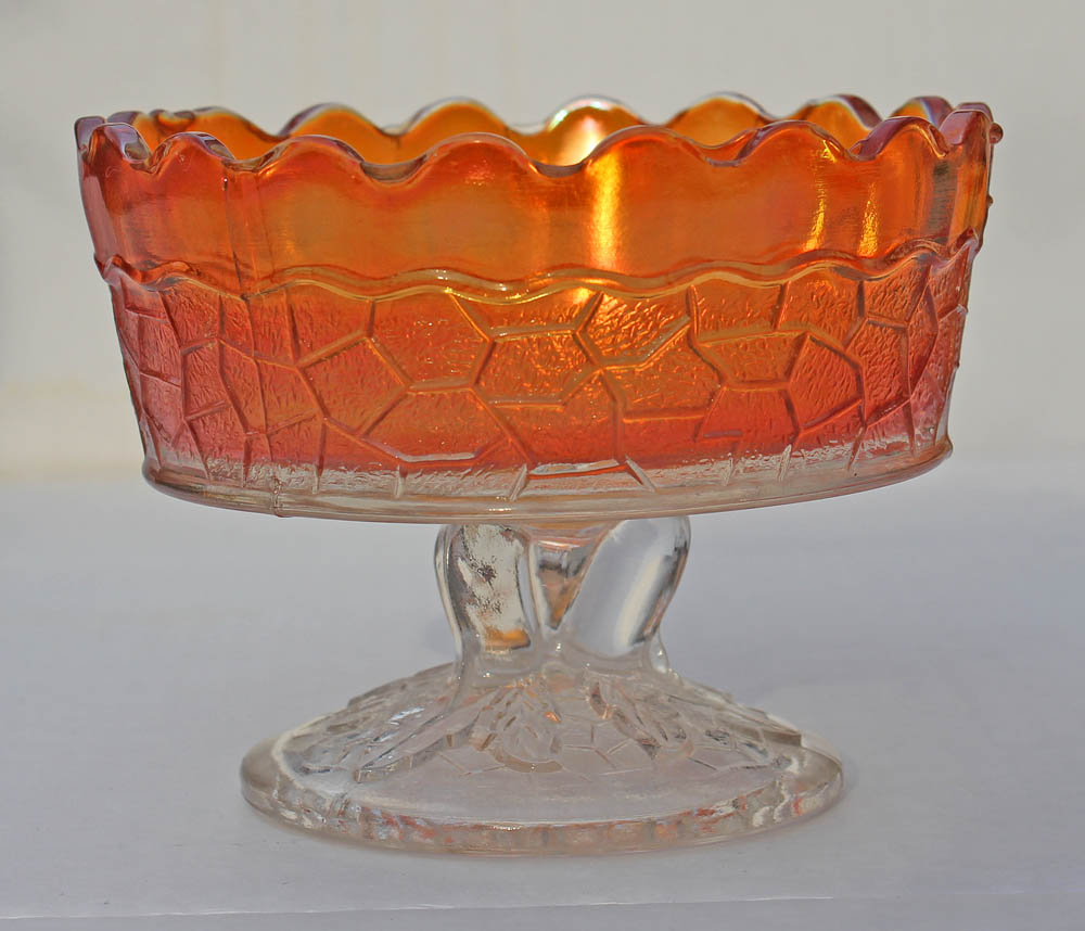 Maple Leaf berry bowl, clear base