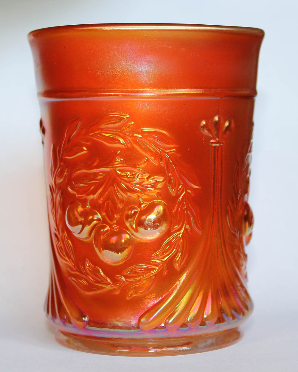 Wreathed Cherry tumbler, marigold
