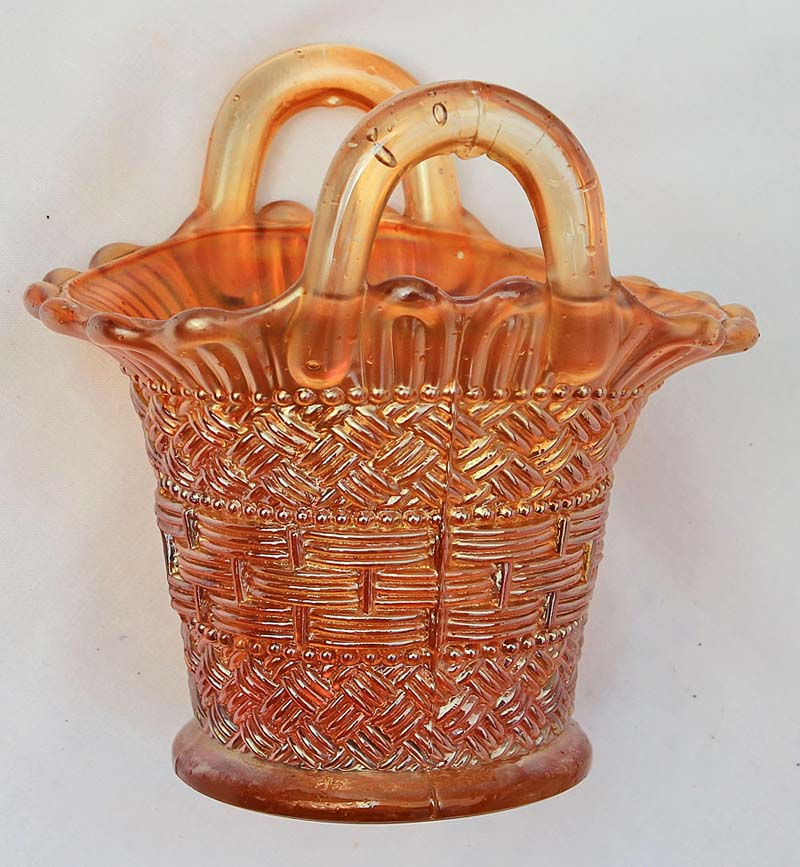 Beaded Basket, marigold