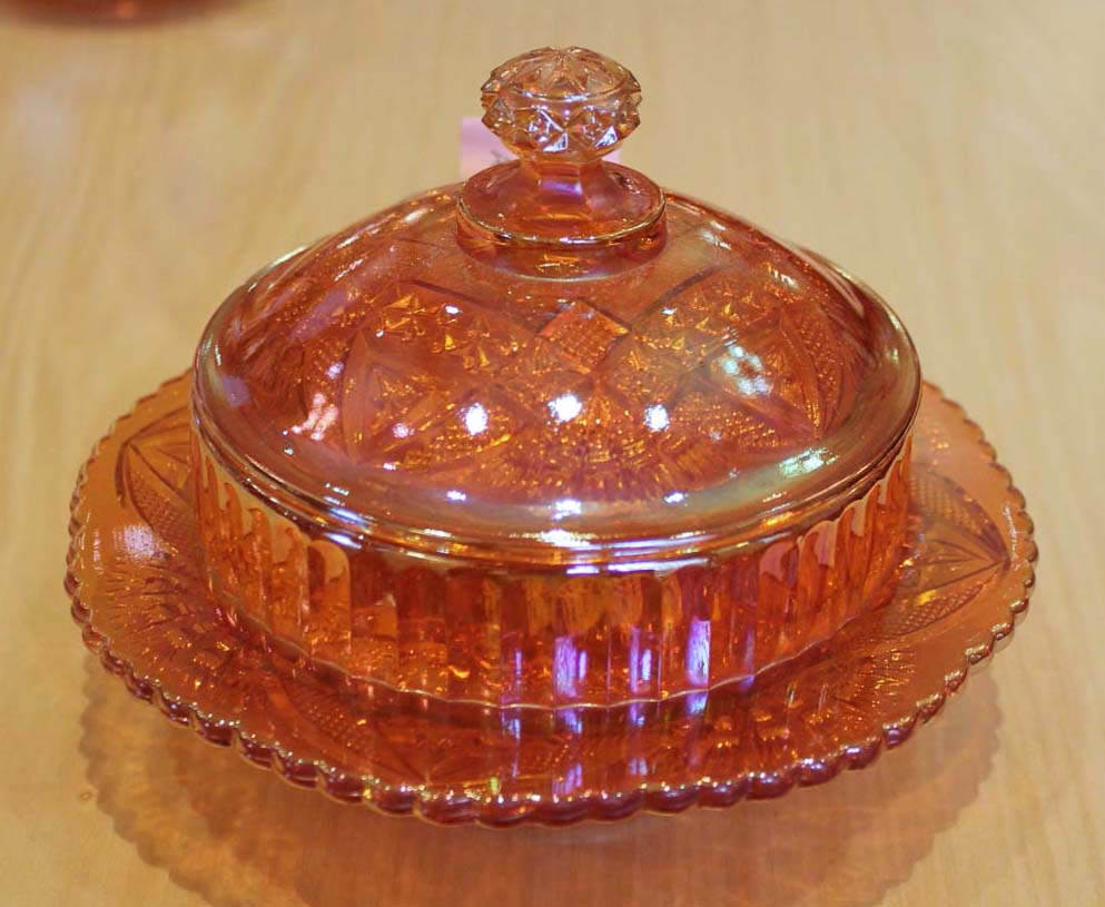 Curved Star butter dish, by Brockwitz