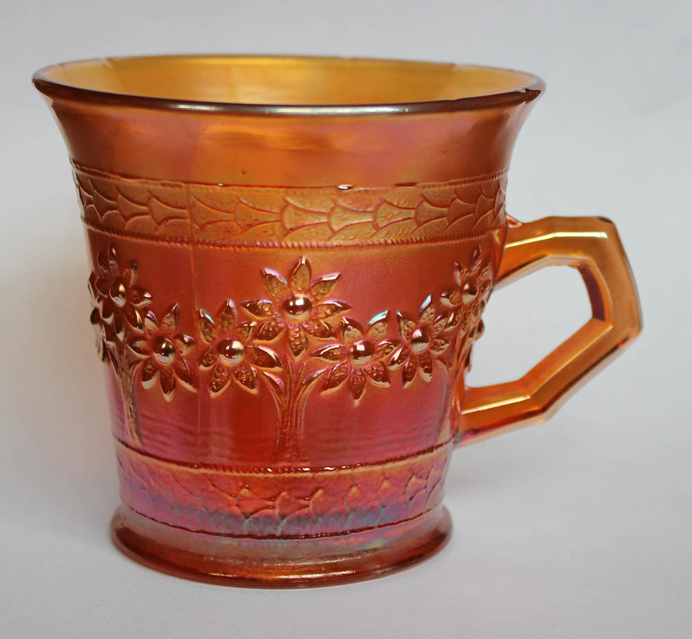 Orange Tree mug, standard size, flared