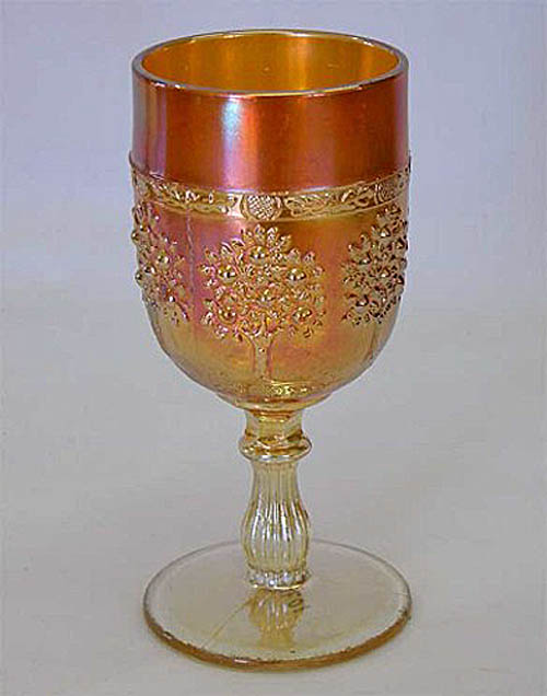 Orange Tree wine glass, marigold