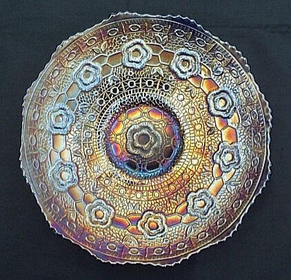 Captive Rose plate, blue