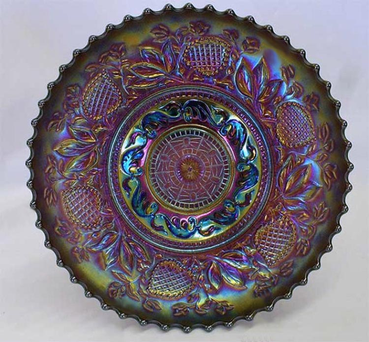 Fanciful IC shaped low bowl - purple