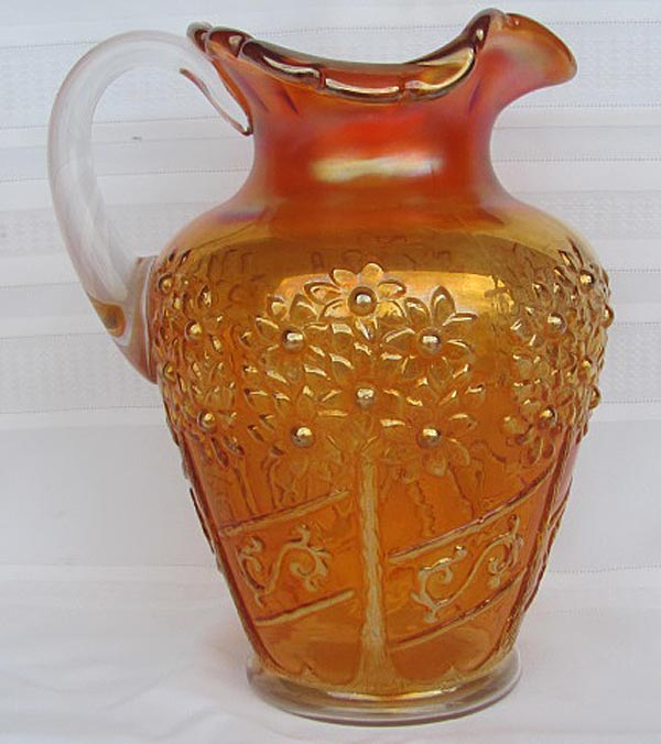 Orange Tree Orchard water pitcher, marigold