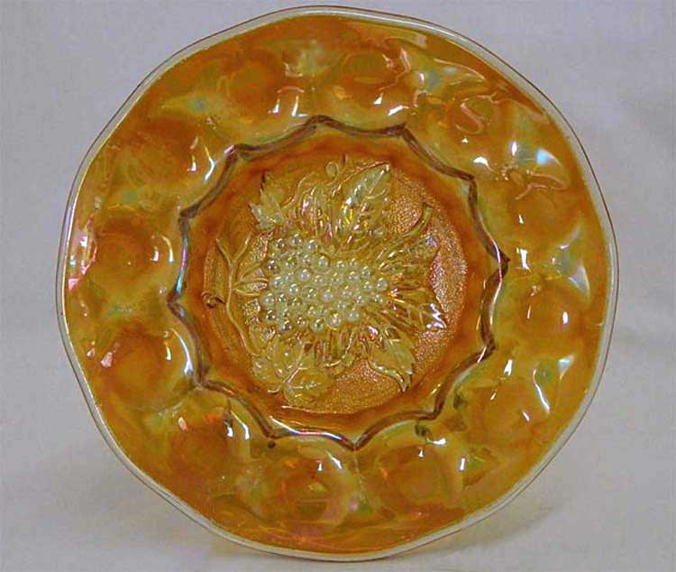 "Heavy Grape 8"" plate, marigold smooth edge"