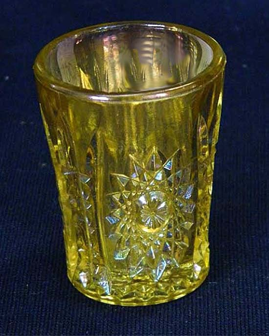 Hobstar shot glass - marigold