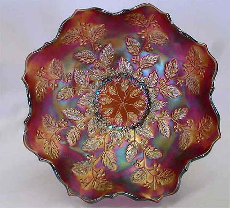 Holly ruffled bowl - brick red