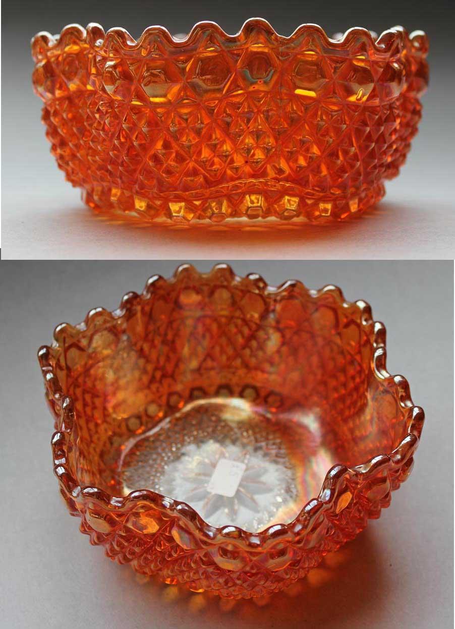 Chunky 6 sided bowl, marigold