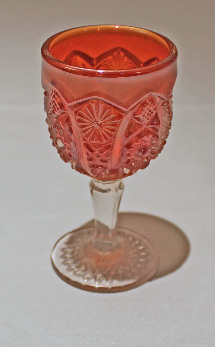 Octagon wine glass, marigold
