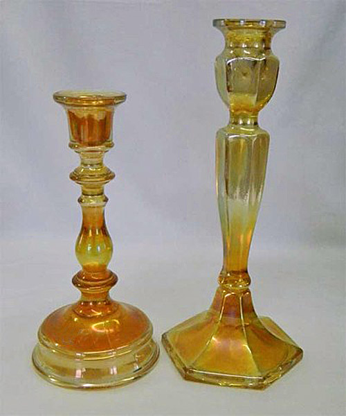 Premium and Colonial candlesticks, marigold