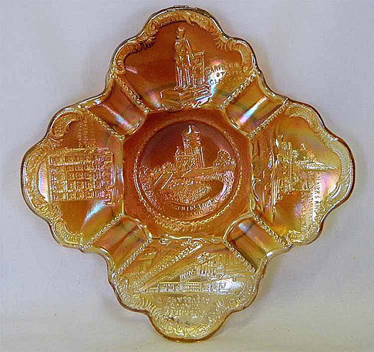 Cleveland Memorial ashtray, marigold