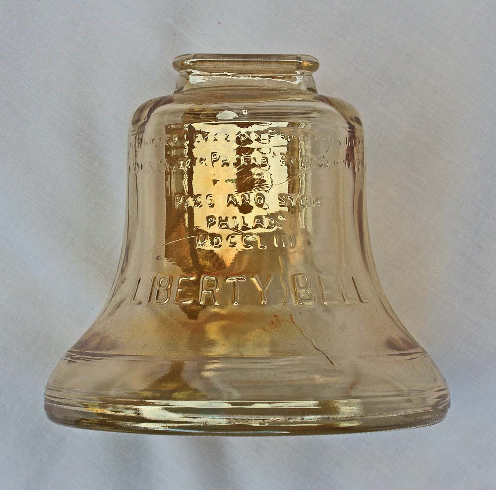 Liberty bell money box, by Anchor Cork and Glass Co. USA