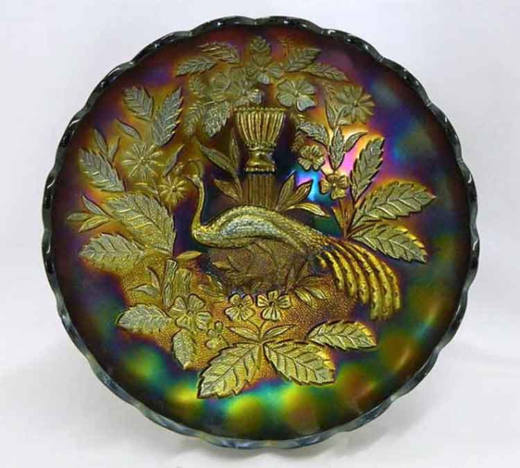 Peacock at Urn master IC bowl - purple
