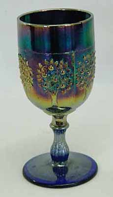 Orange Tree wine glass, blue