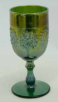 Orange Tree wine glass, green