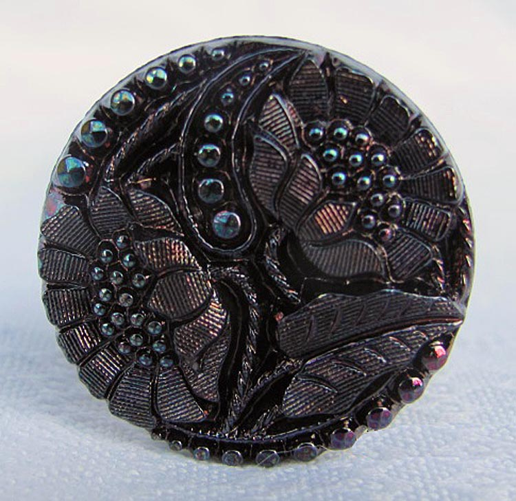 Two Sunflowers button made into a hatpin