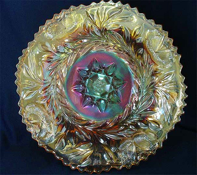 "Western Thistle 11"" chop plate - marigold"