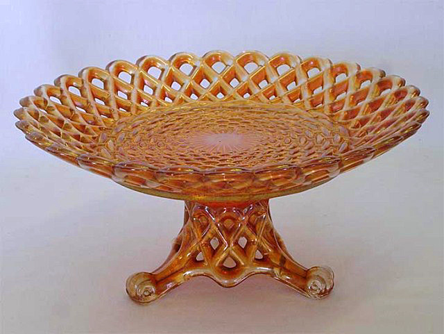 Wickerwork bowl with base - marigold