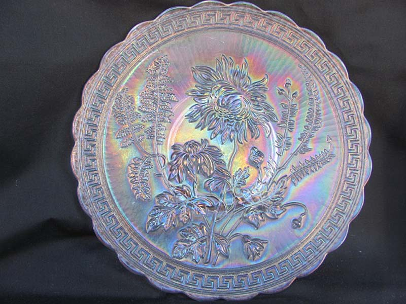 "Chrysanthemum 10 1/2""chop plate in white"