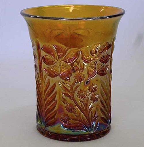 Tiger Lily tumbler in amber
