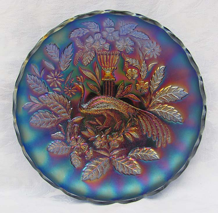 Peacock and Urn large ice cream bowl, blue