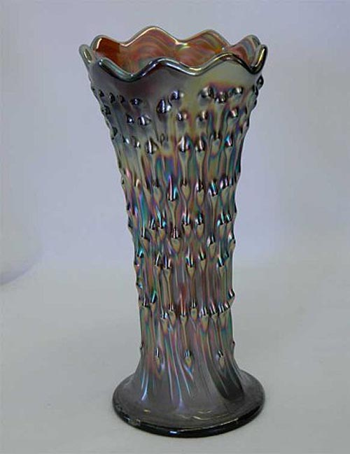 "April Showers 8"" squatty vase in amethyst"