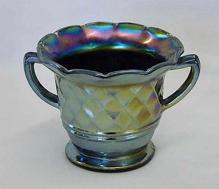 Diamonds sugar bowl, amethyst