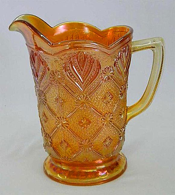 Beaded Acanthus milk pitcher, marigold