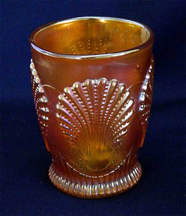 Beaded Shell tumbler, marigold
