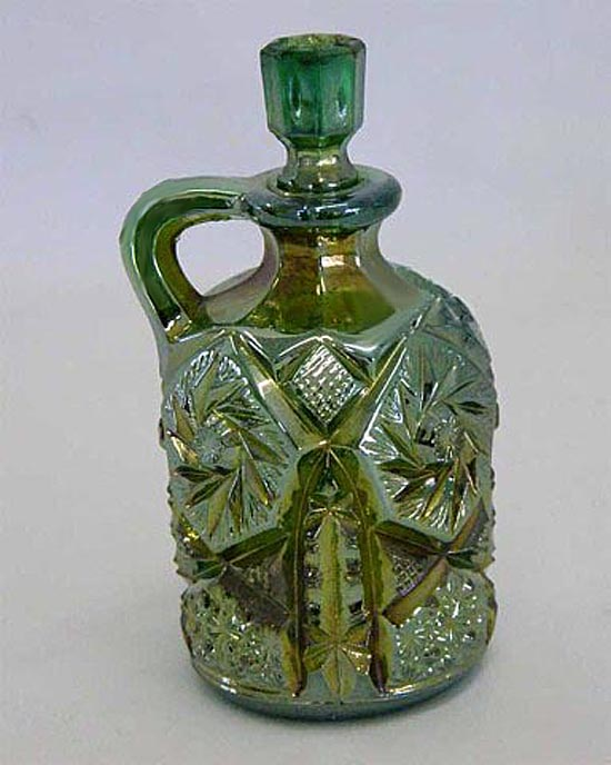 Buzz Saw small size cruet, green, Cambridge