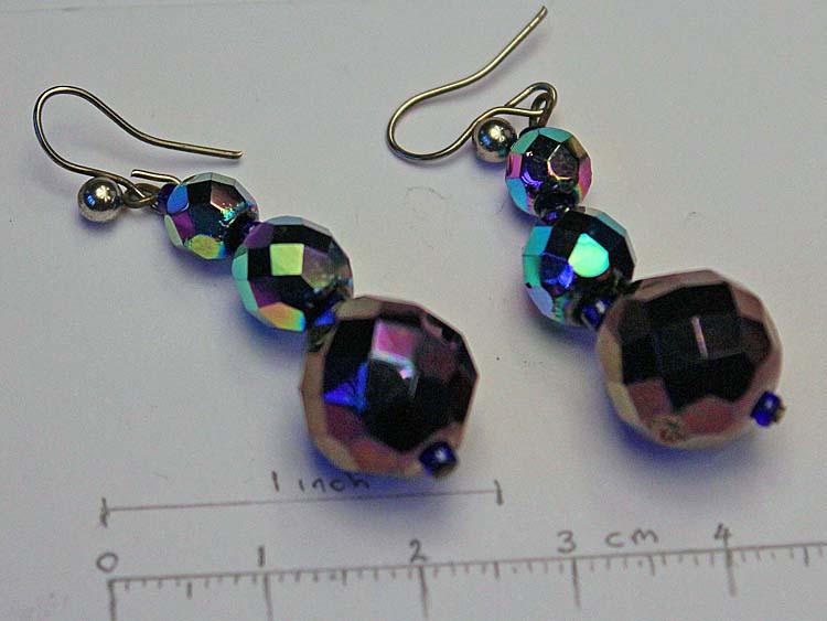 Faceted bead earings
