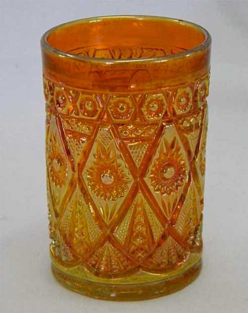 Diamond Lace tumbler, marigold