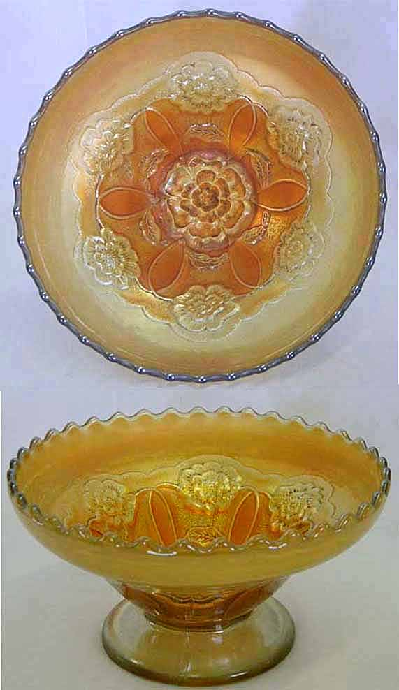 Double Stem Rose dome ftd round bowl, marigold