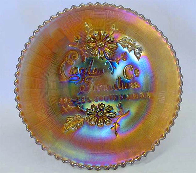 "NORTHWOOD, Eagle Furniture Co. 6""  plate - amethyst"