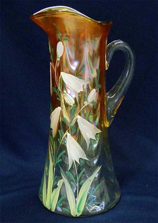 (Enameled) Freesia tankard water pitcher, marigold